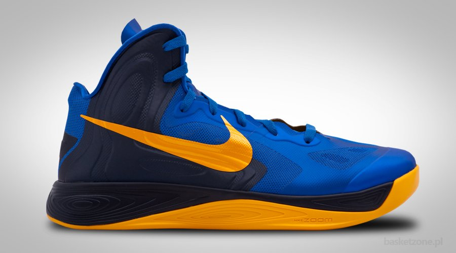 NIKE ZOOM HYPERFUSE 2012 GAME ROYAL UNIVERSITY GOLD