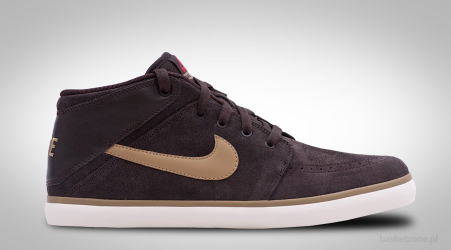 NIKE SUKETO MID LEATHER ANTHRACITE BROWN