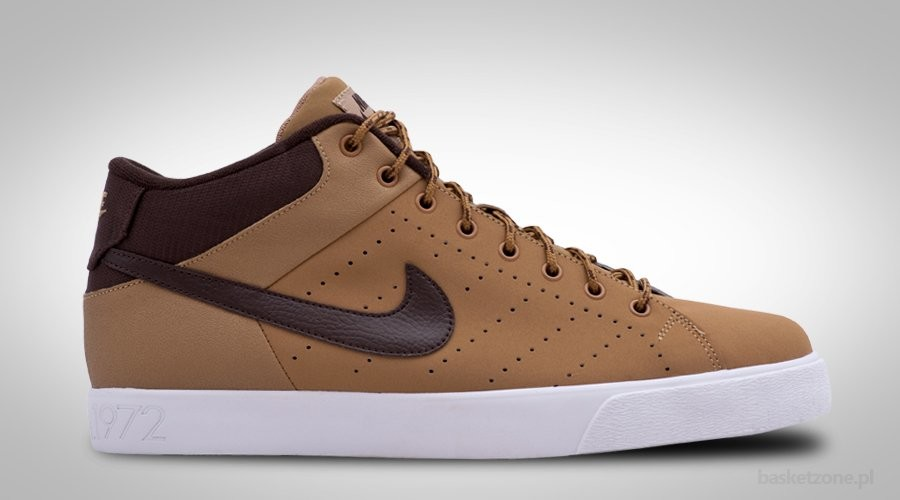 NIKE COURT TOUR MID LEATHER CHOCO
