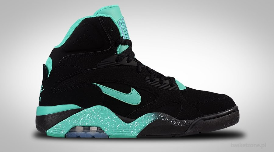NIKE AIR FORCE 180 MID BLACK ATOMIC TEAL