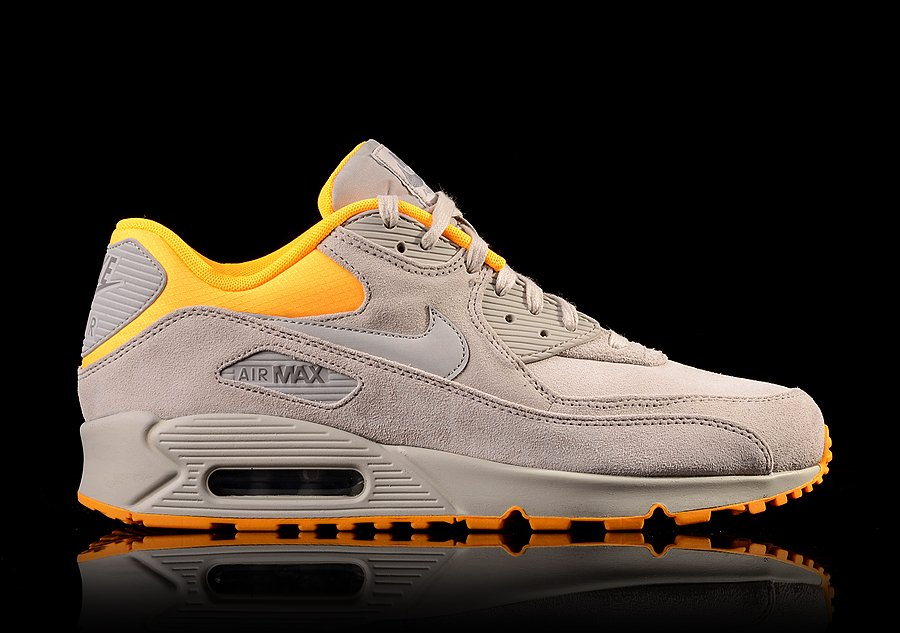 NIKE AIR MAX 90 PREMIUM PALE GREY LASER ORANGE