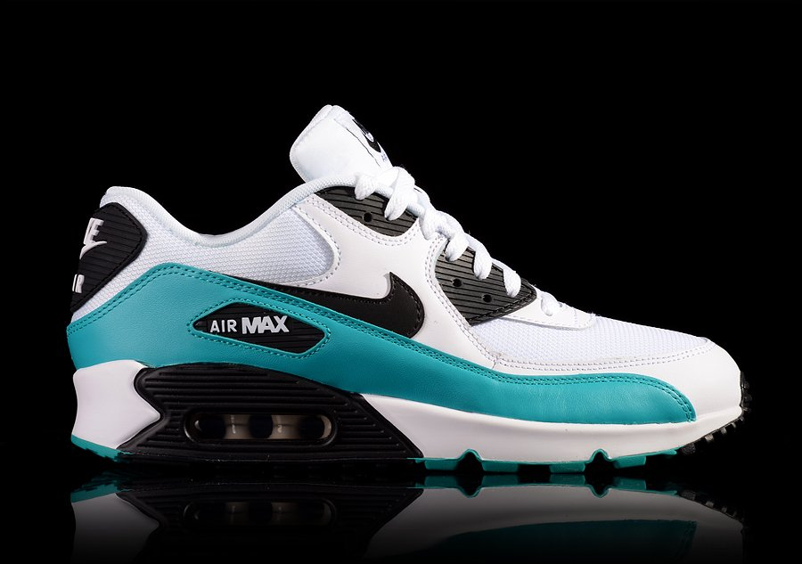NIKE AIR MAX 90 ESSENTIAL WHITE VIVID BLUE