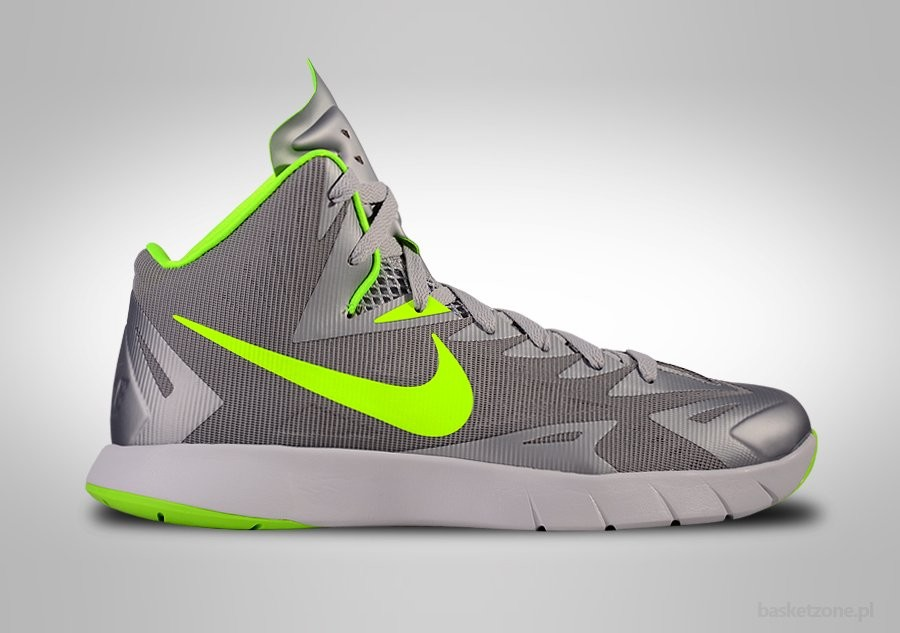 NIKE LUNAR HYPERQUICKNESS COOL GREY ELECTRIC GREEN