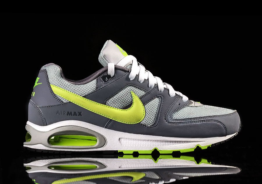 NIKE AIR MAX COMMAND GREY ELECTRIC YELLOW