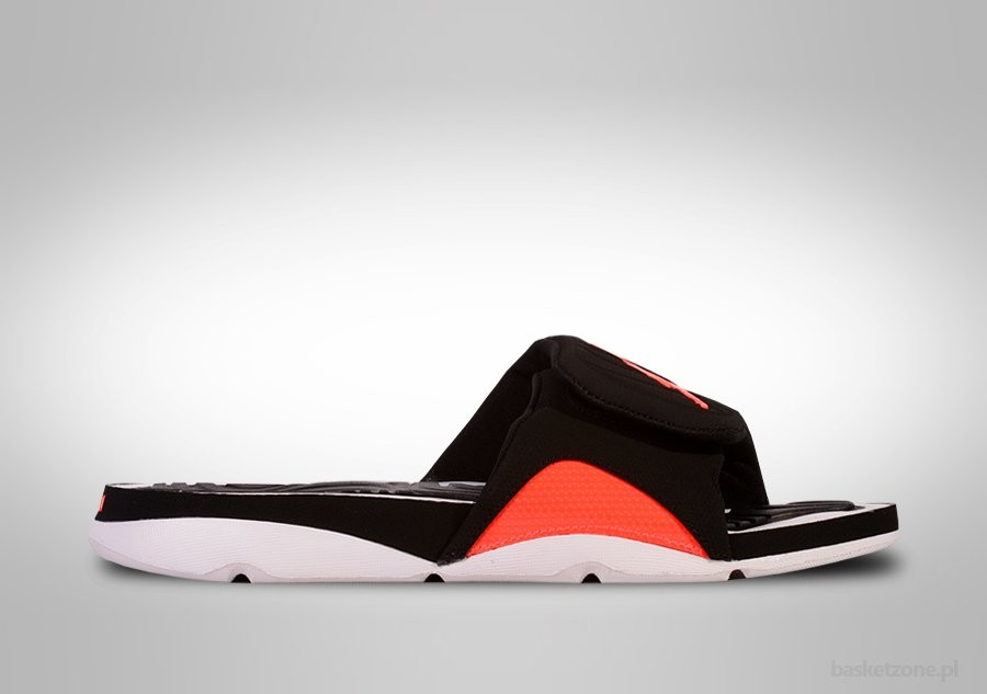 NIKE JORDAN HYDRO 4 SLIDE BLACK/INFRARED 23-WHITE