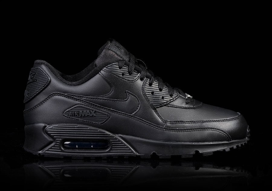 premium selection 64026 48f85 NIKE AIR MAX 90 LEATHER INTENSE BLACK